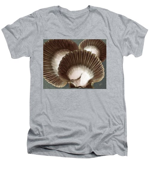 Seashells Spectacular No 22 Men's V-Neck T-Shirt by Ben and Raisa Gertsberg