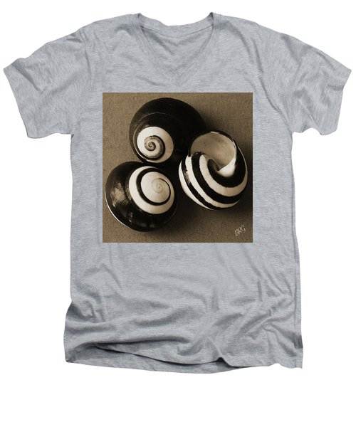 Seashells Spectacular No 27 Men's V-Neck T-Shirt by Ben and Raisa Gertsberg