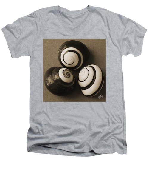 Seashells Spectacular No 28 Men's V-Neck T-Shirt by Ben and Raisa Gertsberg