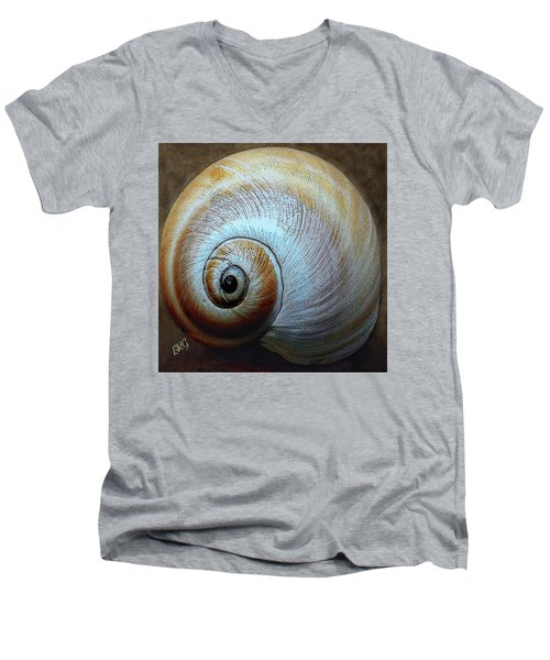 Seashells Spectacular No 36 Men's V-Neck T-Shirt by Ben and Raisa Gertsberg