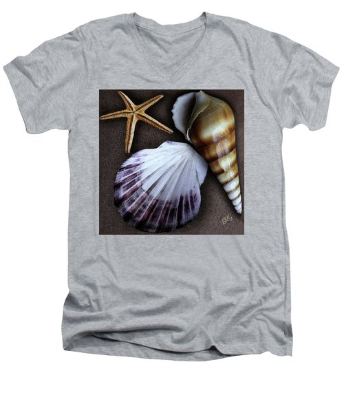 Seashells Spectacular No 37 Men's V-Neck T-Shirt by Ben and Raisa Gertsberg