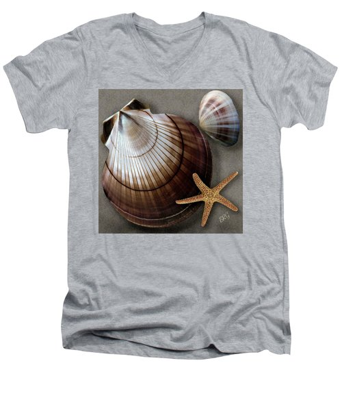 Seashells Spectacular No 38 Men's V-Neck T-Shirt by Ben and Raisa Gertsberg