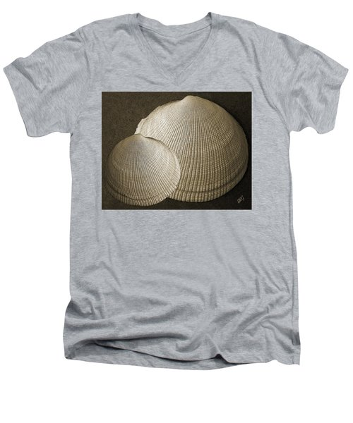 Seashells Spectacular No 8 Men's V-Neck T-Shirt by Ben and Raisa Gertsberg