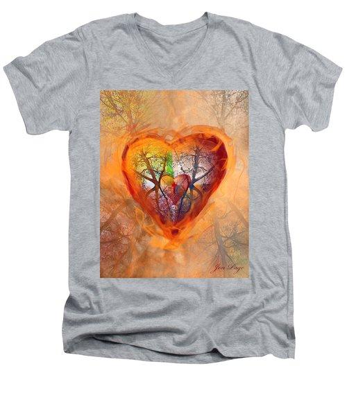 Season Of The Heart Men's V-Neck T-Shirt
