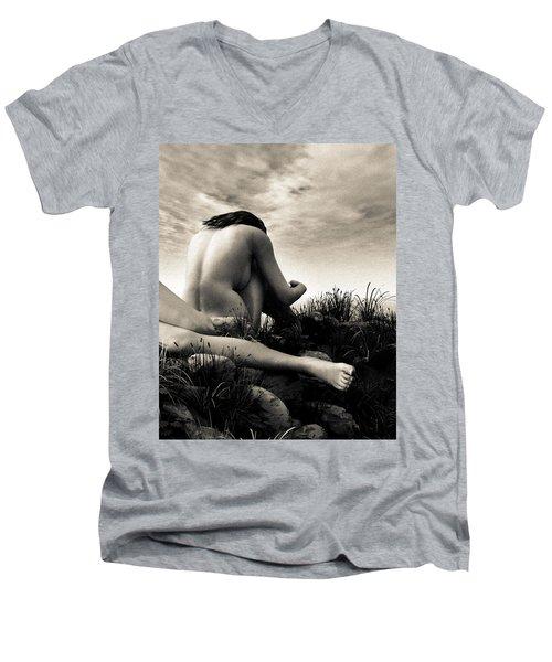 Seasons Men's V-Neck T-Shirt by Bob Orsillo