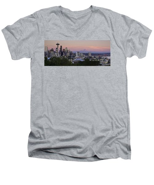 Seattle Sunset - Kerry Park Men's V-Neck T-Shirt