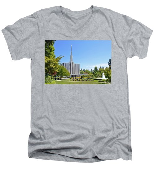 Seattle Temple - Horizontal Men's V-Neck T-Shirt