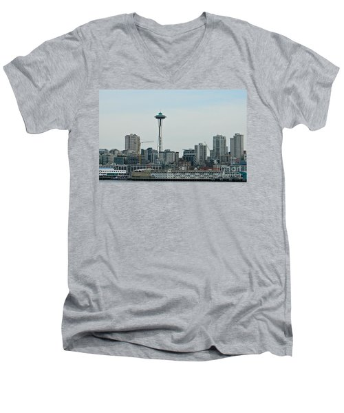 Seattle Washington Men's V-Neck T-Shirt by Chalet Roome-Rigdon