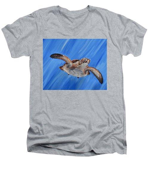 Seaturtle Men's V-Neck T-Shirt