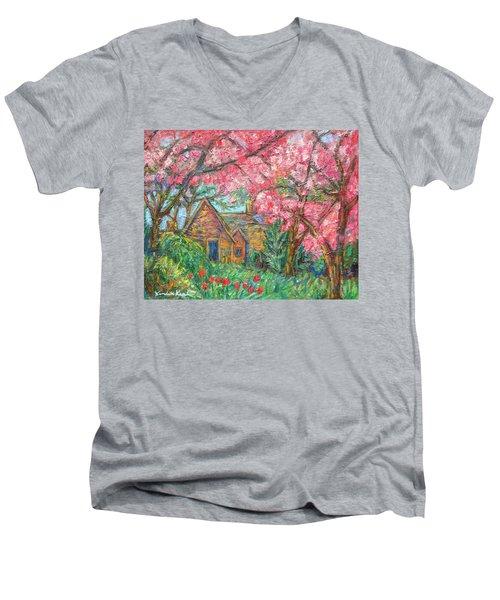 Secluded Home Men's V-Neck T-Shirt by Kendall Kessler