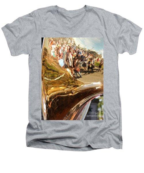Second Line Tuba Men's V-Neck T-Shirt