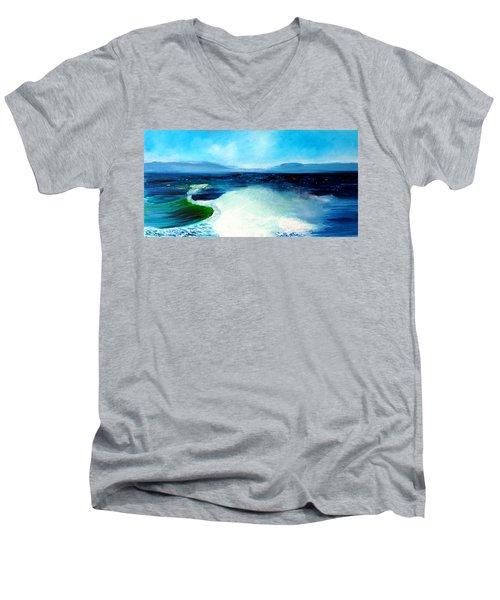 Secret Beach Surf Art Men's V-Neck T-Shirt