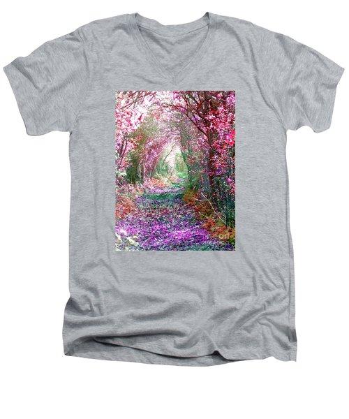 Secret Garden Men's V-Neck T-Shirt by Vicki Spindler