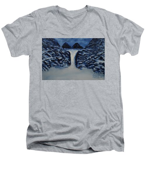 Men's V-Neck T-Shirt featuring the painting Secret Places by Shawn Marlow