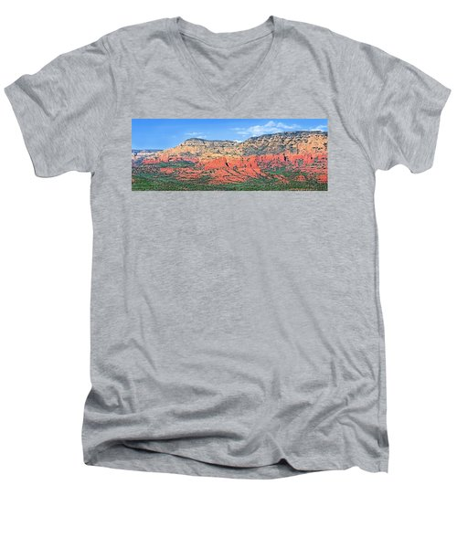 Sedona Landscape Men's V-Neck T-Shirt by Jane Girardot