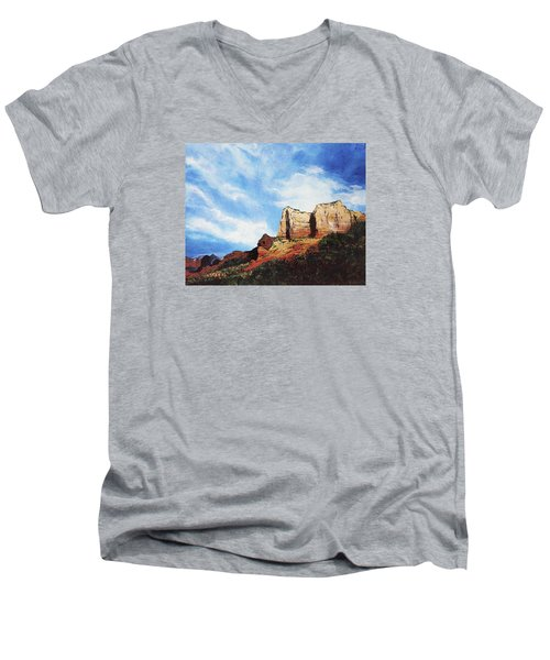 Sedona Mountains Men's V-Neck T-Shirt