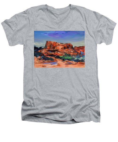 Courthouse Butte Rock - Sedona Men's V-Neck T-Shirt