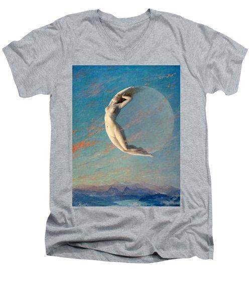 Selene Men's V-Neck T-Shirt by Albert Aublet