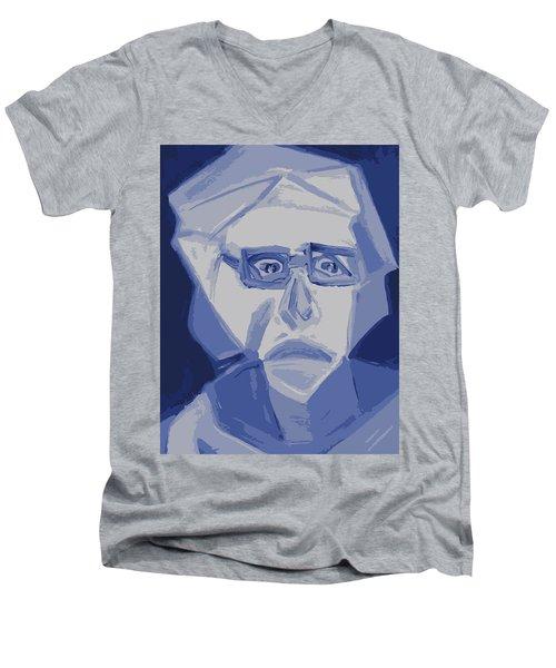 Self Portrait In Cubism Men's V-Neck T-Shirt