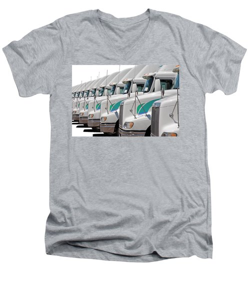 Semi Truck Fleet Men's V-Neck T-Shirt