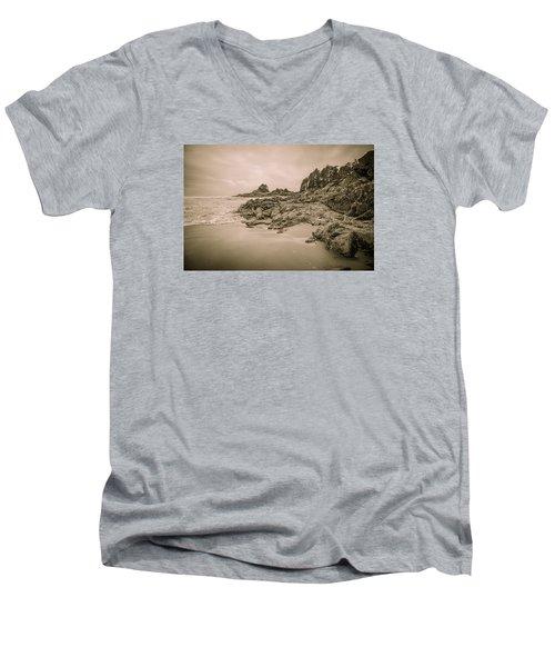 Cox Bay Sepia Men's V-Neck T-Shirt by Roxy Hurtubise