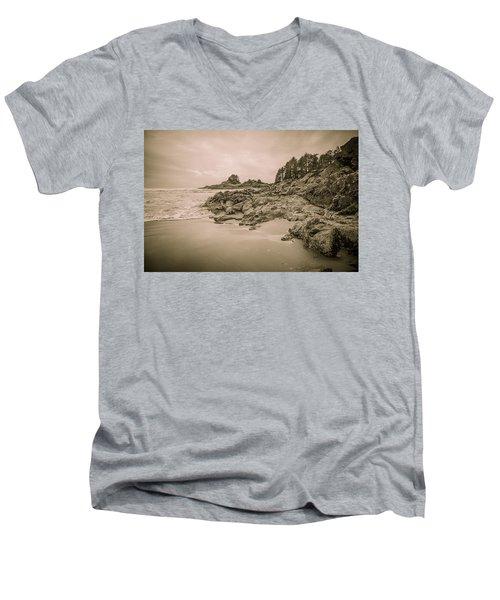 Cox Bay Sepia Men's V-Neck T-Shirt