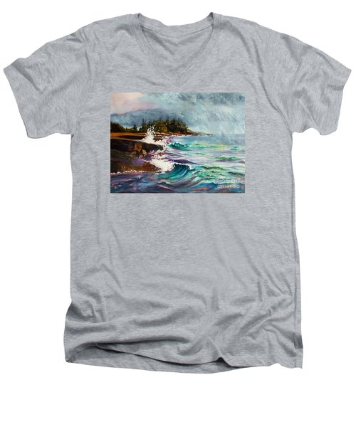 September Storm Lake Superior Men's V-Neck T-Shirt