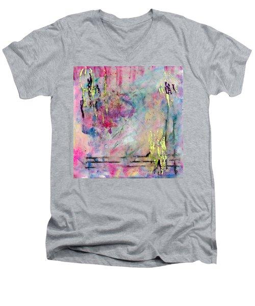 Serene Mist Encaustic Men's V-Neck T-Shirt