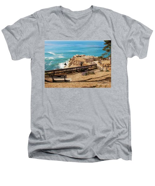 A Place To Relax Men's V-Neck T-Shirt by Claudia Ellis