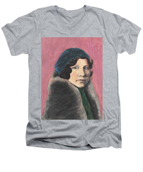 Men's V-Neck T-Shirt featuring the painting Serenity by Jeanne Fischer