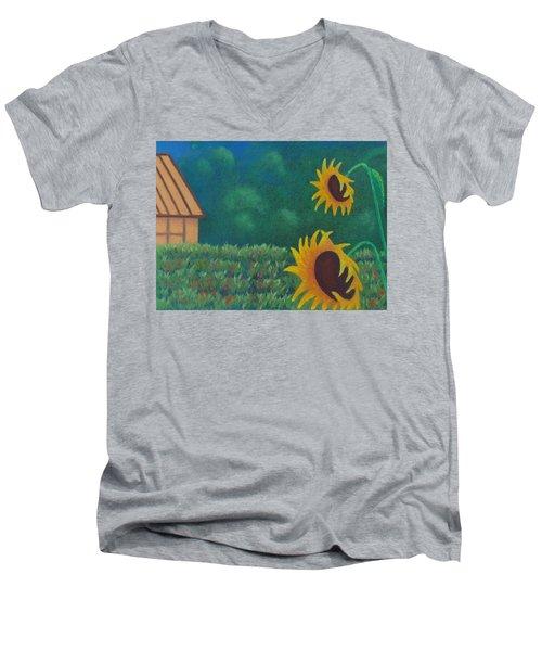 Sergi's Sunflowers Men's V-Neck T-Shirt