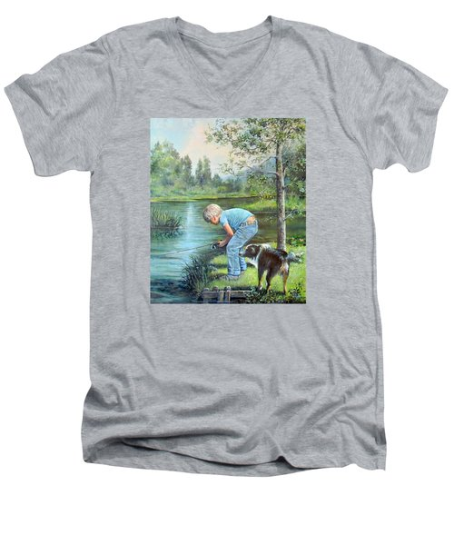 Seth And Spiky Fishing Men's V-Neck T-Shirt