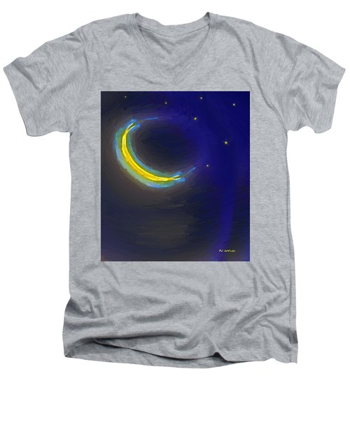 Seven Stars And The Moon Men's V-Neck T-Shirt