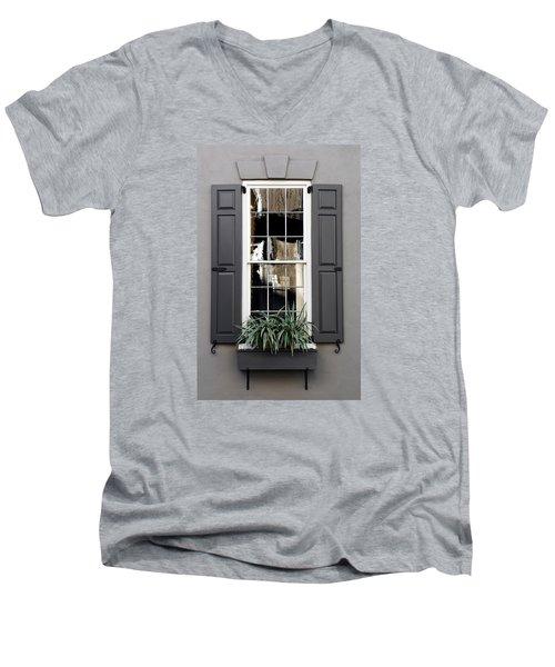 Shades Of Grey In Charleston Men's V-Neck T-Shirt