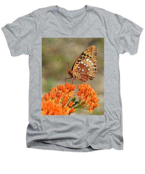 Shades Of Orange Men's V-Neck T-Shirt