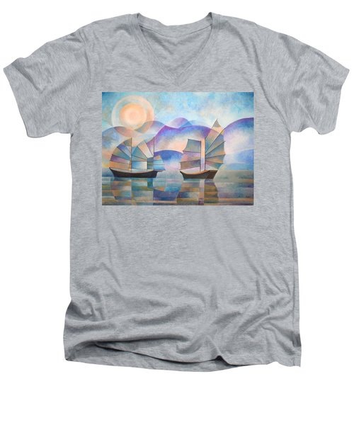 Shades Of Tranquility Men's V-Neck T-Shirt