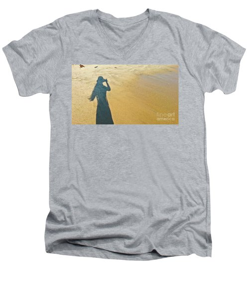 Shadow And Sand Raw Men's V-Neck T-Shirt