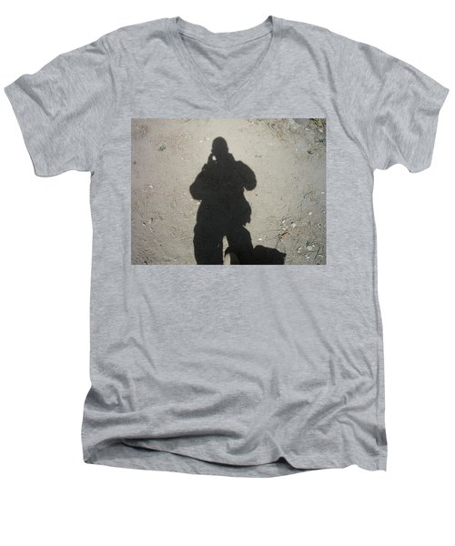 Shadow In Afghanistan  Men's V-Neck T-Shirt