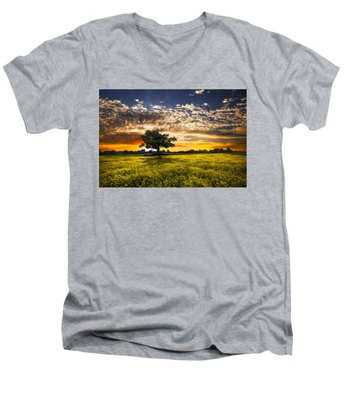 Shadows At Sunset Men's V-Neck T-Shirt