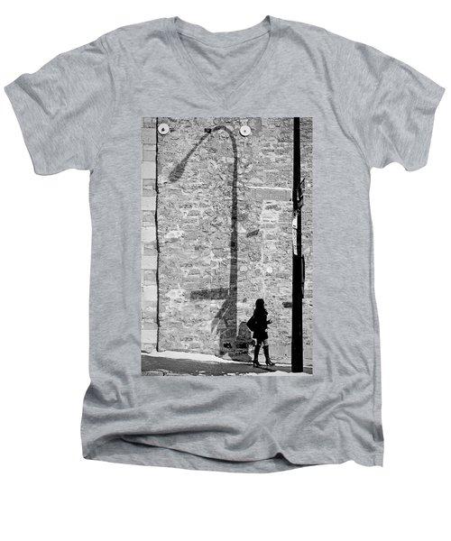Shadows On St-laurent Men's V-Neck T-Shirt