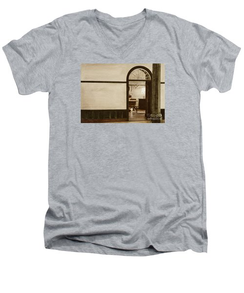 Shaker Pegs Men's V-Neck T-Shirt