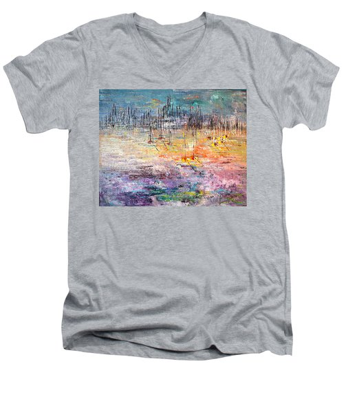 Shallow Water - Sold Men's V-Neck T-Shirt by George Riney