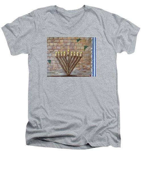 Chanukah Of Peace Men's V-Neck T-Shirt