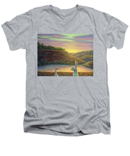 Sharing A Moment Men's V-Neck T-Shirt