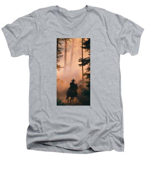 Shayna Men's V-Neck T-Shirt by Diane Bohna