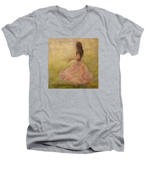 She Dances With The Rain Men's V-Neck T-Shirt