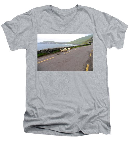Shelter Men's V-Neck T-Shirt by Suzanne Oesterling