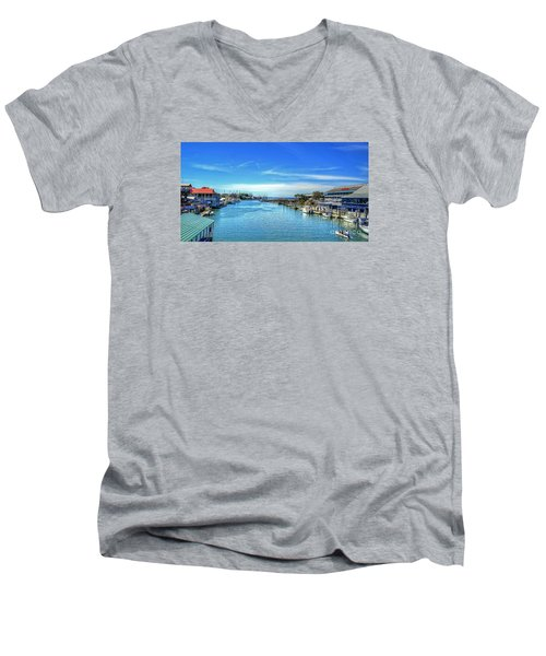 Men's V-Neck T-Shirt featuring the photograph Shem Creek by Kathy Baccari