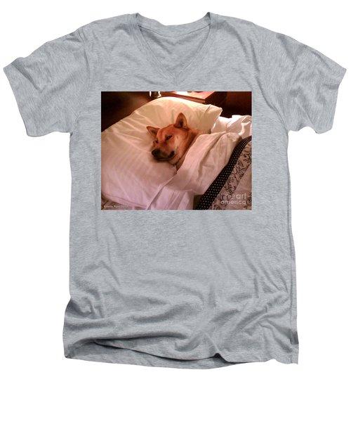 Shiba Inu Kobi-1 Men's V-Neck T-Shirt