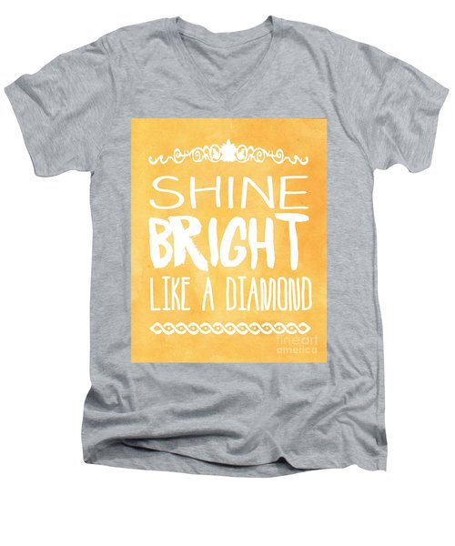 Shine Bright Orange Men's V-Neck T-Shirt by Pati Photography